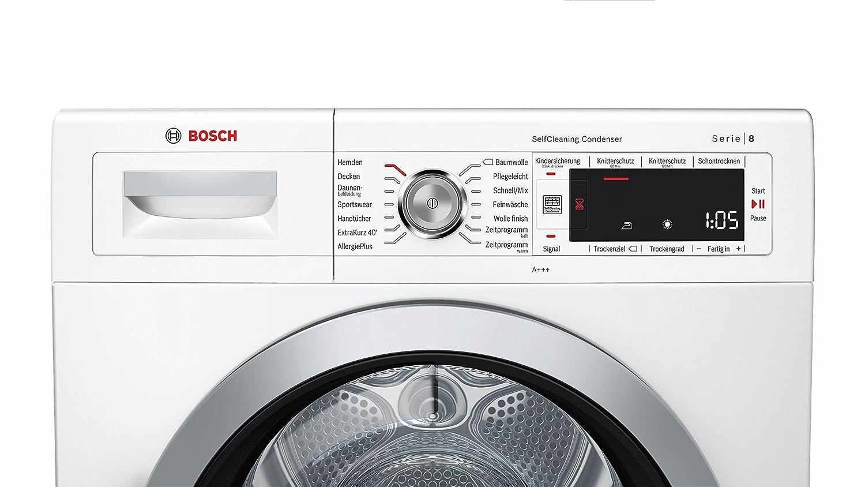 Bosch wtw875w0 serie 8 wärmepumpentrockner a 8 kg