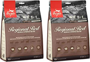 Orijen 2 Bags of Regional Red Dog Food, 12 Ounces Each, Grain-Free, Made in The USA