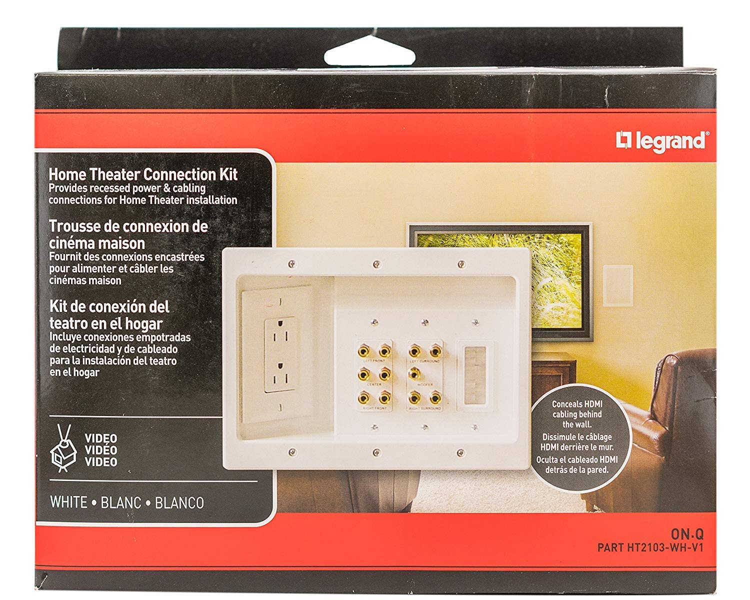 Amazon.com: Legrand - ONQ / Legrand HT2103WHV1 Home Theater Connection Kit: Home Improvement
