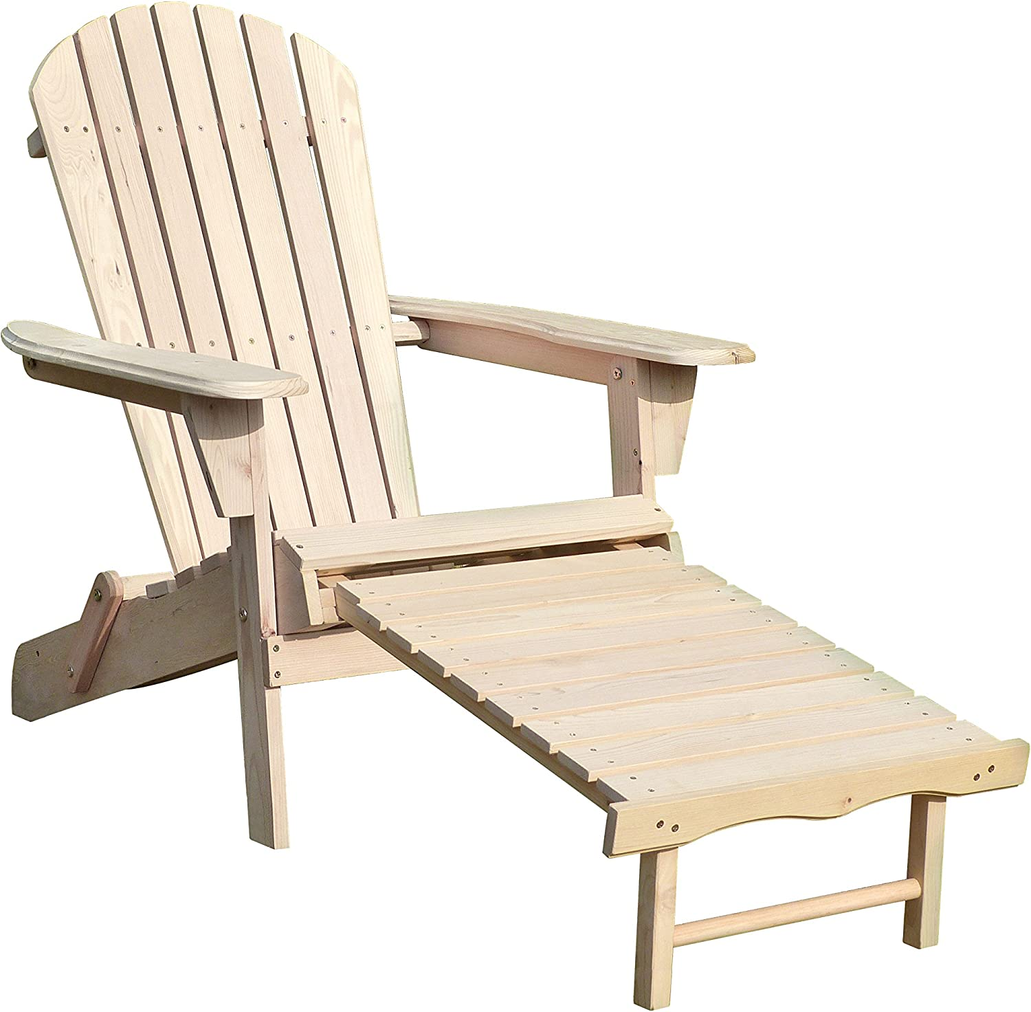 northbeam ADC8 Merry Garden Adirondack Chair Kit with Pullout  Ottoman