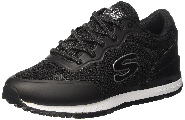 Skechers Sunlite-Vega, Zapatillas sin Cordones para Mujer 39 EU|Negro (Black)