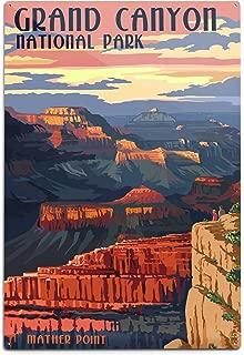 product image for Lantern Press Grand Canyon National Park, Arizona, Mather Point (12x18 Aluminum Wall Sign, Wall Decor Ready to Hang)