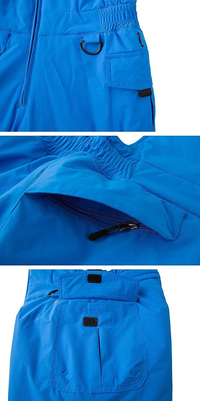 Wantdo Mens Waterproof Ski Pants Insulated Warm Snow Bib Pants Winter  Overall 2aa329f2c