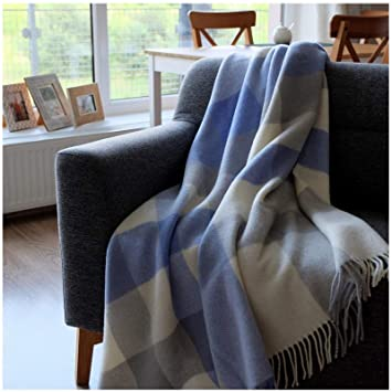 Linen & Cotton Plaid, Couverture en Laine,