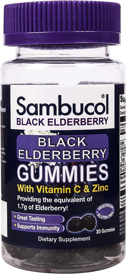 Amazon.com: Sambucol Black Elderberry - Gomas elásticas ...