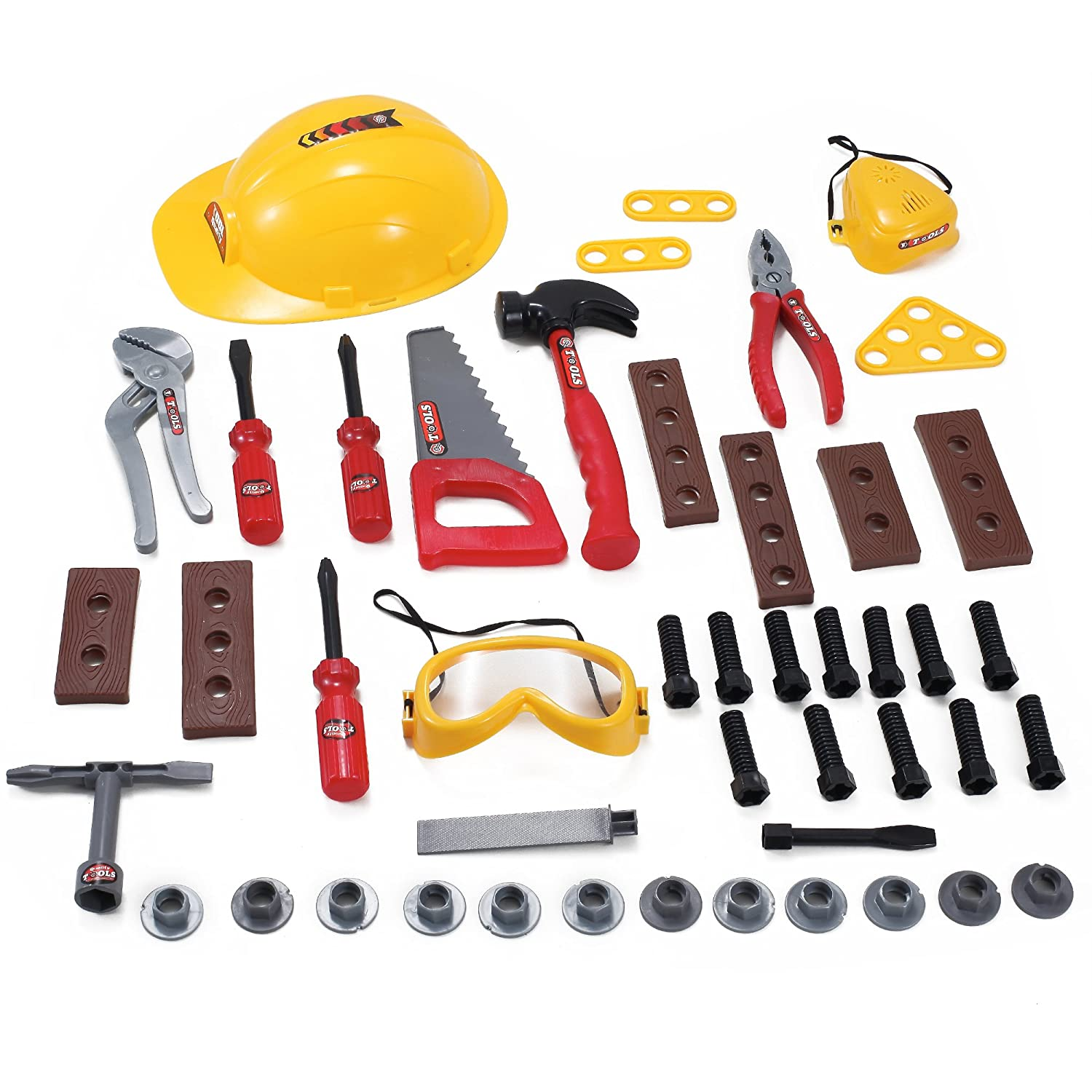 Liberty Imports 52 Pcs Construction Hard Hat with with with Pretend Play Tools and Accessories Set by Liberty Imports ce55b4