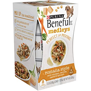 7d804504d57 Image Unavailable. Image not available for. Color: Purina Beneful Romana Style  Medley Dog Food, 3 ct, 3 oz each