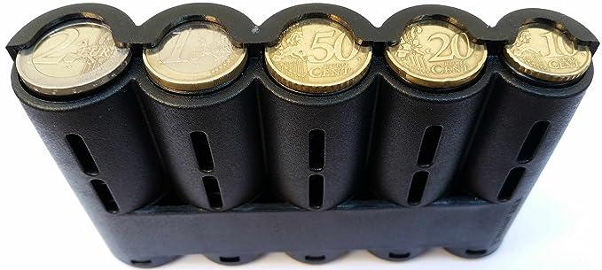 CLAIRE-FONCET Monedero con Dispensador de Monedas de 5 piezas de Euro, Monedero cintura, ideal para Camarero, Camarera, Taxis, Autobúses, vendedores en ...