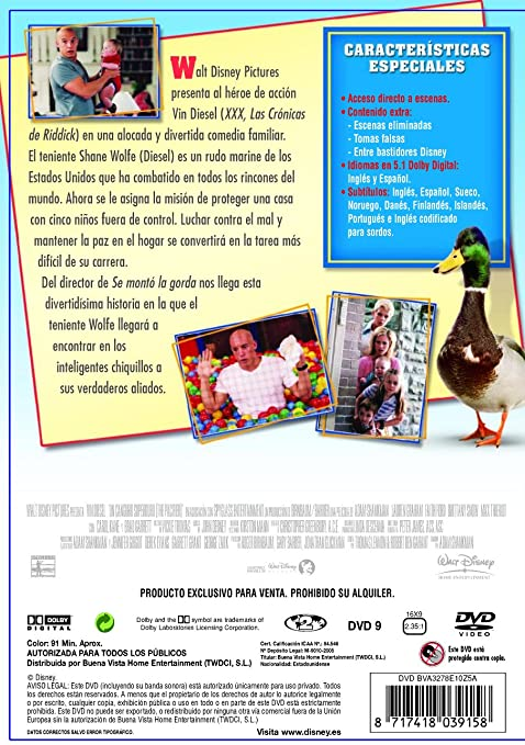 Un canguro superduro [DVD]: Amazon.es: Vin Diesel, Max Thieriot, Brittany Snow, Lauren Graham, Faith Ford, Chris Potter, Morgan York, Carol Kane, ...