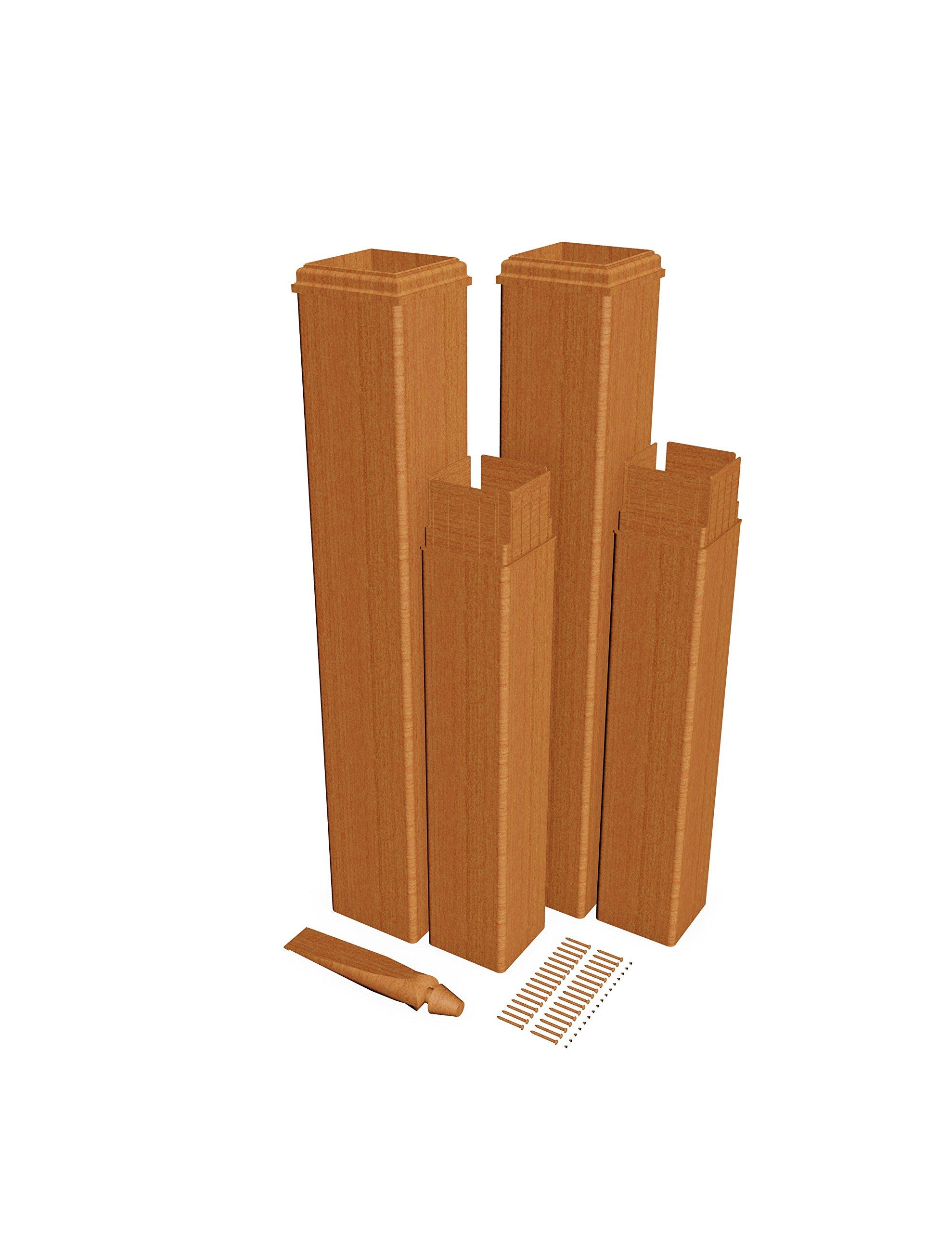 New England Arbors VA84352 Pergola Extension Kit (Cedar) (2 Pack) Arbors, White