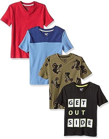 0104d8509b04 Amazon Brand - Spotted Zebra Boys' Toddler & Kids 4-Pack Short-Sleeve