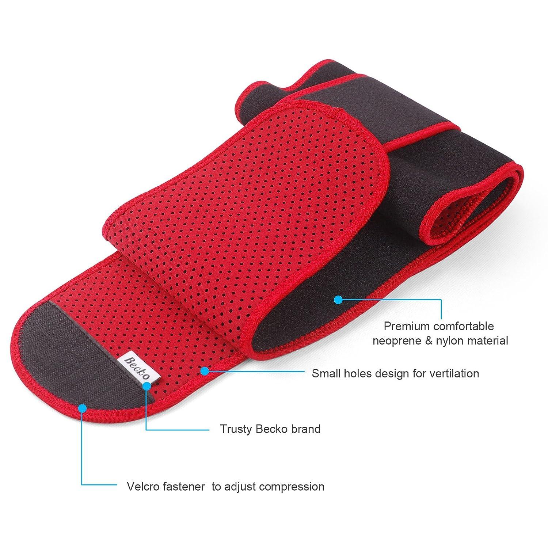 Becko Adjustable Waist Trimmer Belt//Weight Loss Ab Wrap//Sweat Workout Enhancer//Back /& Lumbar Support//Tummy Belt for Man /& Woman
