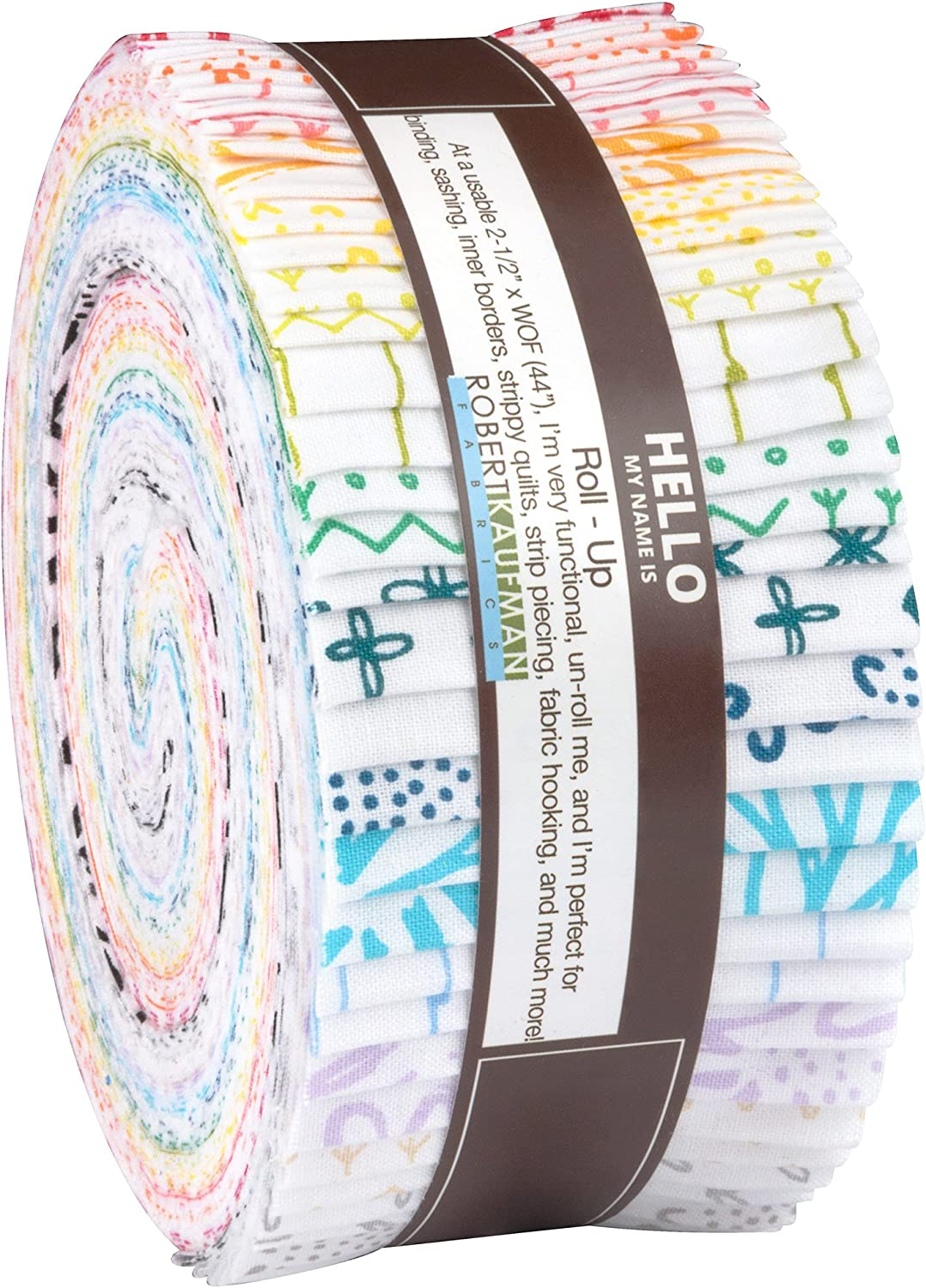 Karen Lewis Blueberry Park Low Volume Roll Up 40 2.5-inch Strips Jelly Roll Robert Kaufman RU-637-40