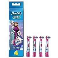 Oral-B Stages Power - Pack de 4 cabezales de recambio para cepillo eléctrico, diseño Frozen