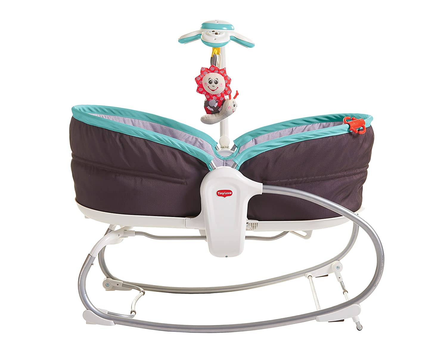 Grey//Turquoise 0 Month + Tiny Love 3-in-1 Rocker Napper Newborn Baby Bouncer with Recline Music and Lights Suitable from Birth