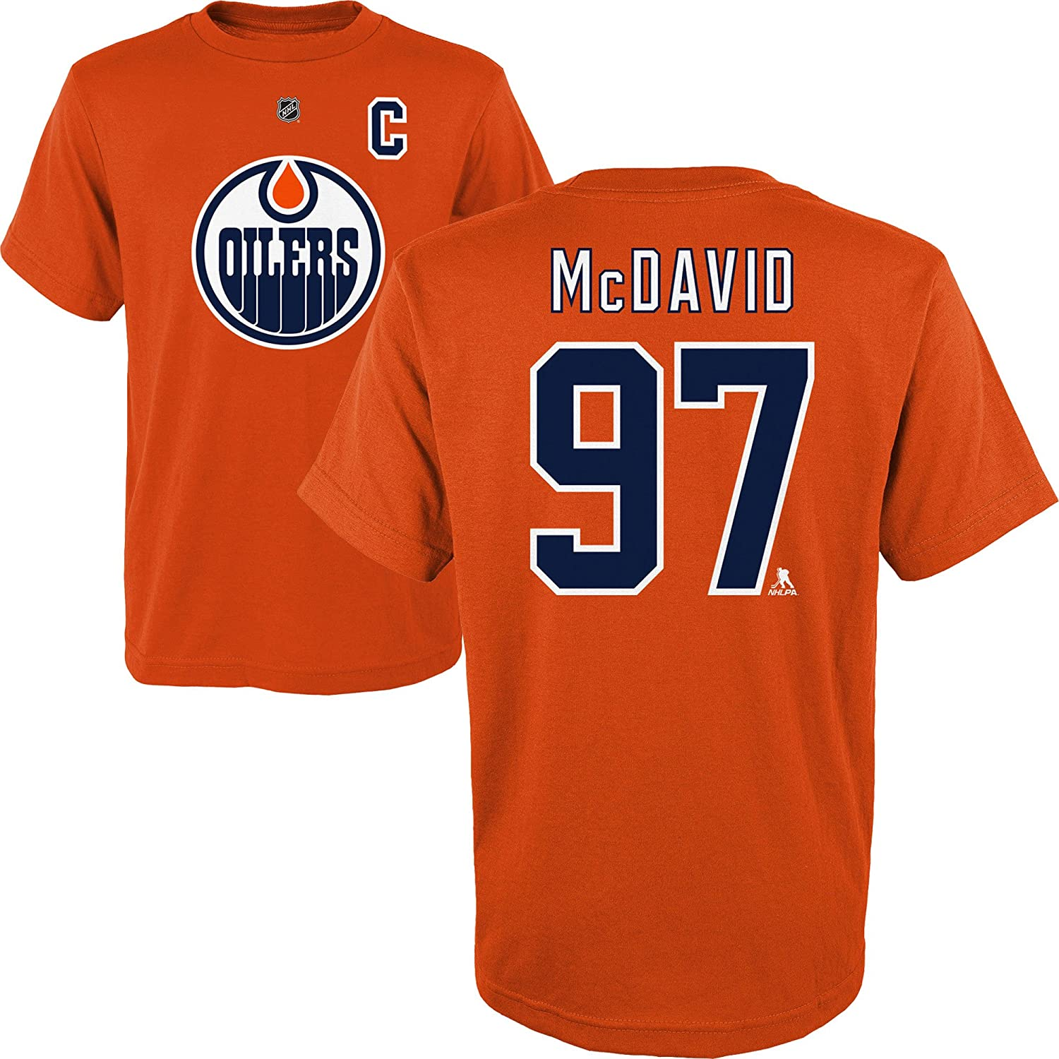 Connor McDavid Edmonton Oilers Youth Player Name and Number T-Shirt Outerstuff