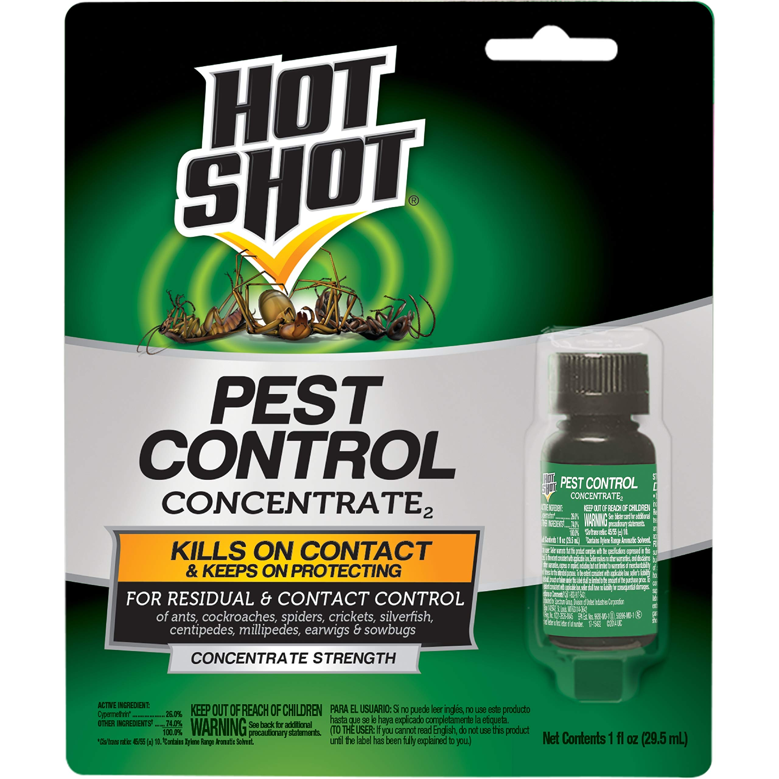 Hot Shot Pest Control Concentrate, Makes Up To 2 Gallons, 1-Ounce, 12-pack by Hot Shot