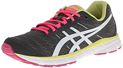 ASICS Women's Gel Zaraca 2 Running Shoe,Dark Charcoal/White/Neon Pink,