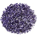 Top Plaza Natural Amethyst Tumbled Chips Crushed Stones Reiki Healing Quartz Crystals Irregular Shaped Gemstones 0.45lb