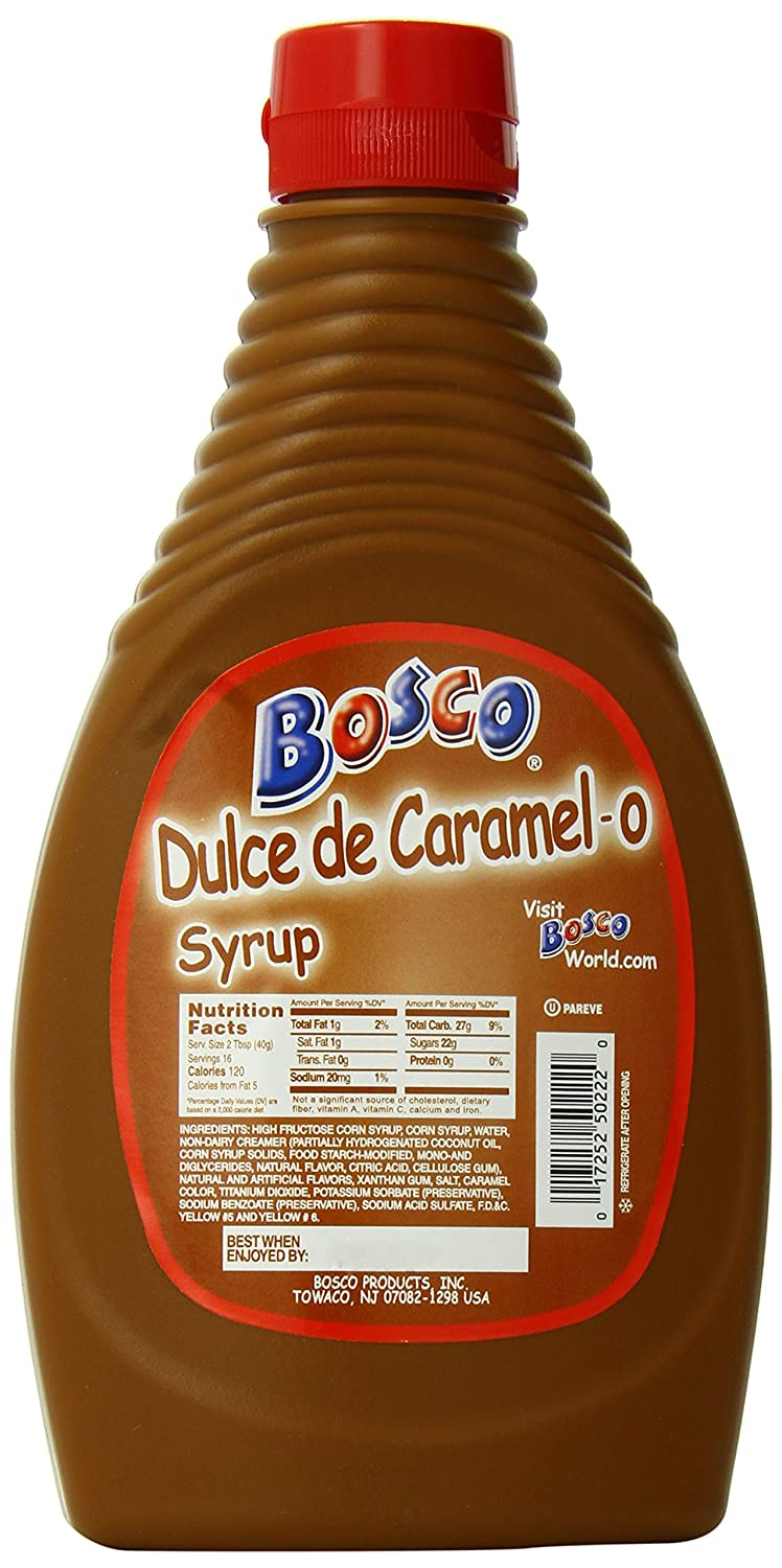 Amazon.com : Bosco Syrup, Strawberry, 22 Ounce (Pack of 12 ...