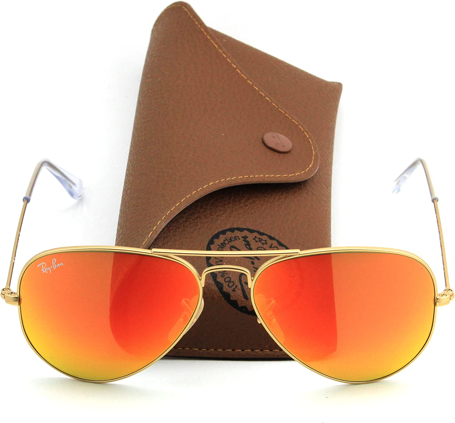 ray ban aviator orange mirror