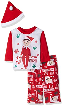 Elf of the Shelf Kids  Little Family Sleepwear Collection with Santa Hat 20858f08b