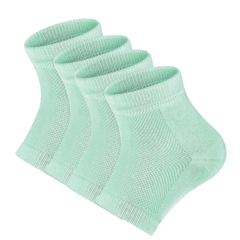 2 paia Gel idratante tacco calze, calzini, gel Open toe Socks for Dry, Cracked Heel Repair Dry piedi tallone incrinato trattamento sollievo dal dolore al tallone Tinkber