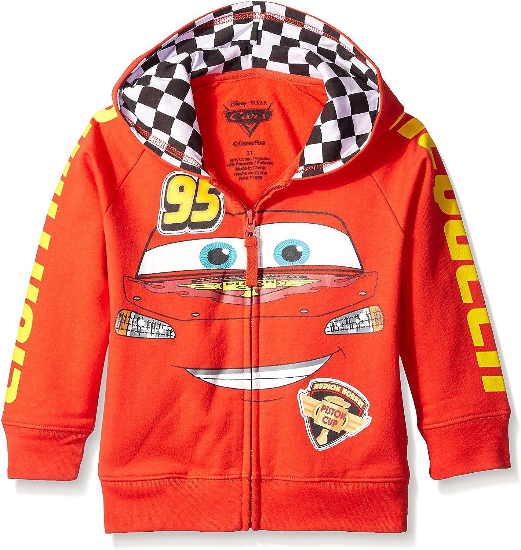 New Boys Girls Cars Lightning McQueen Pullover Pockets Sweatshirt Hooded Hoodies