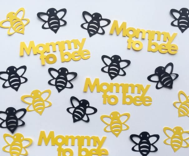 Bumble Bee Baby Shower Confetti   Mommy To Bee And Bees In Black And Yellow