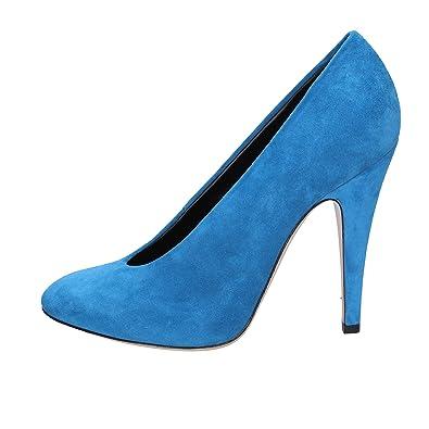35551d81d096 Casadei Pumps-Shoes Womens Suede Turquoise 3 UK  Amazon.co.uk  Shoes ...