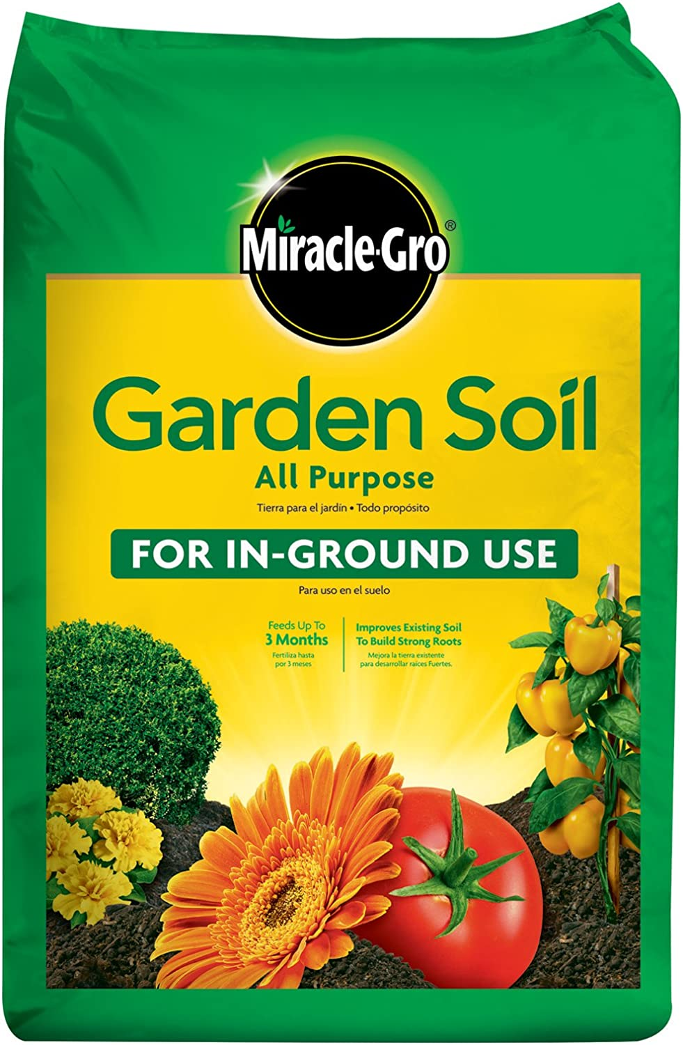 Miracle-Gro Available 70551430 All-Purpose Garden Soil, 1 CF
