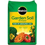 Miracle-Gro Garden Soil All Purpose: 1 cu. ft., For In-Ground Use, Feeds for 3 Months, Amends Vegetable, Flower and Plant Bed