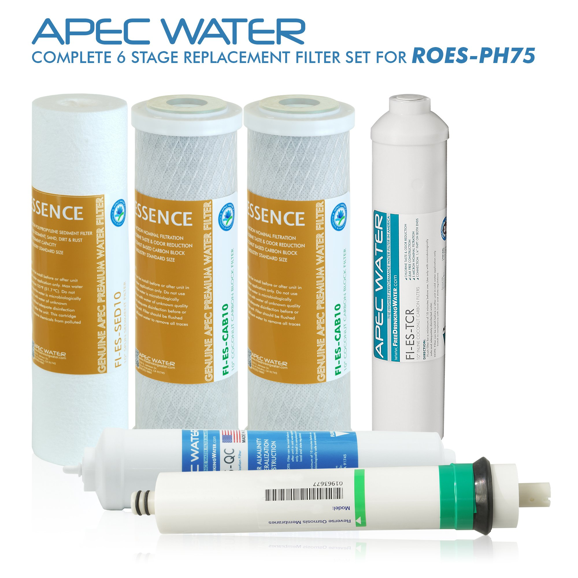 APEC Top Tier Alkaline Mineral pH+ 75 GPD 6-Stage Ultra Safe Reverse Osmosis Drinking Water Filter System (ESSENCE ROES-PH75) by APEC Water Systems (Image #5)