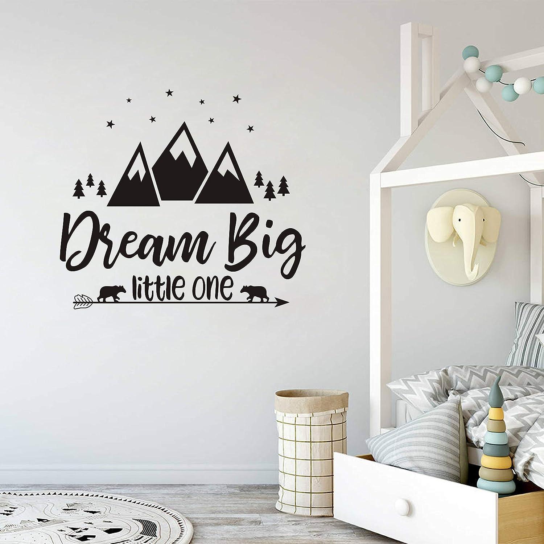 Dream Big Rabbit Kids nursery Assortiment style scandinave Decal Wall Stickers