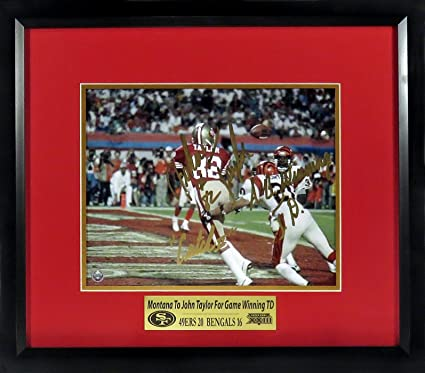 "SF 49ers John Taylor Autographed ""Catch II"" 8x10 Photograph w  Inscription  w  0cc987b1a"