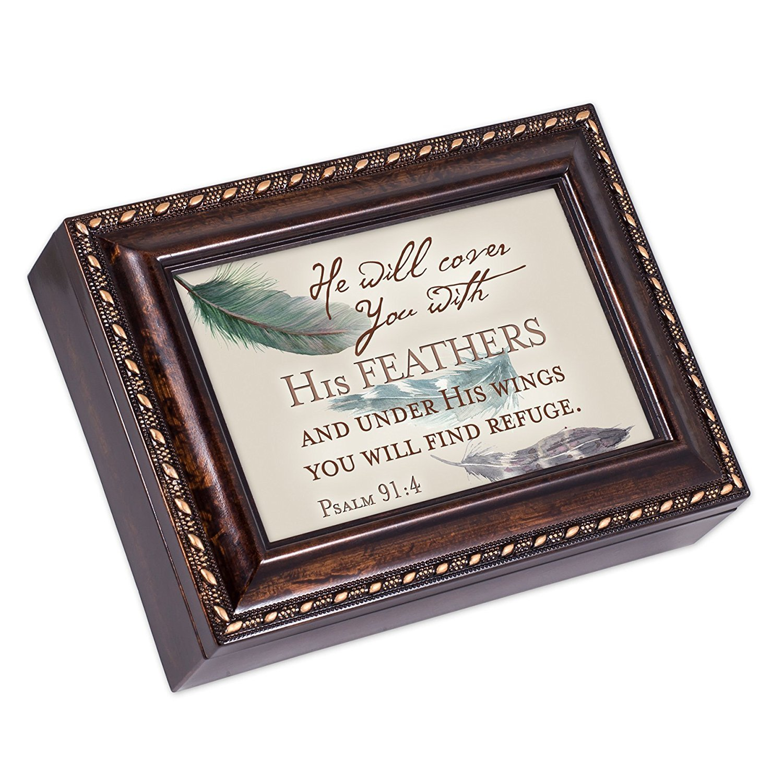 最適な材料 You Will Find Refuge You Psalm Find 91 B01G7OOXXW : 4フェザーBurlwood仕上げジュエリー音楽ボックスPlays Amazing Grace B01G7OOXXW, 青森古川味噌店:a9839777 --- arcego.dominiotemporario.com