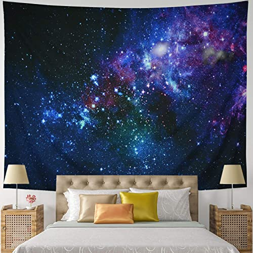 Leofanger Galaxy Tapestry Universe Starry Sky Tapestry Wall Hanging Milky Way Space Tapestry Psychedelic Tapestry Nebula Headboard Bedspread Tapestry for Bedroom Living XLarge-92.5 x70.8 , Universe