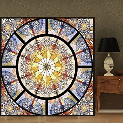 Amazon Ostepdecor Custom Translucent Non Adhesive Stained Glass
