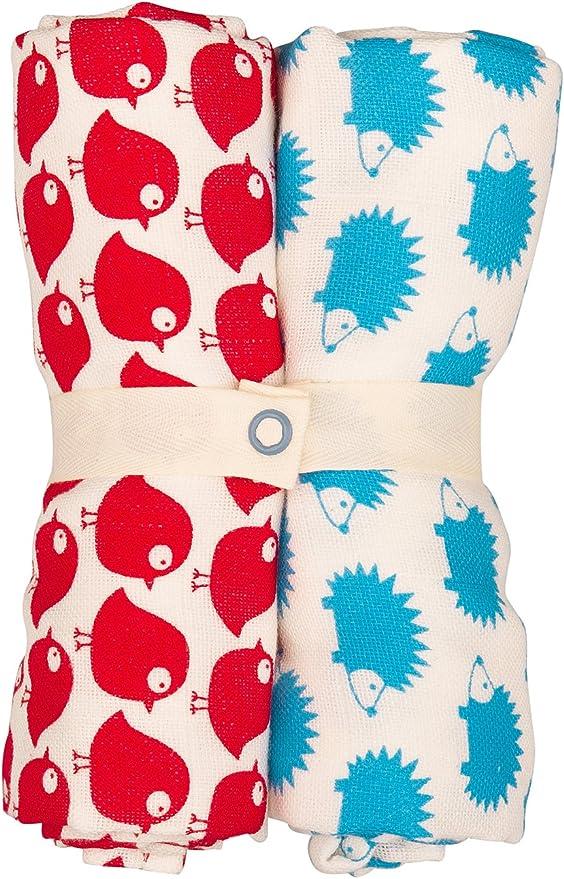 loud proud Unisex Baby Halstuch Spucktuch im 2er Pack Animalprint