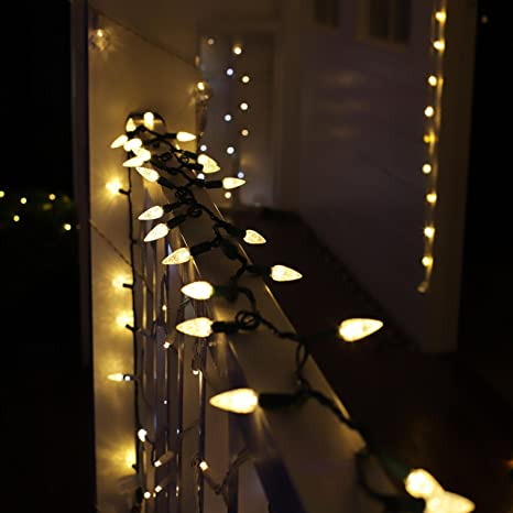 grand decor ul listed outdoor led string lights weatherproof strawberry lights17 feet 50