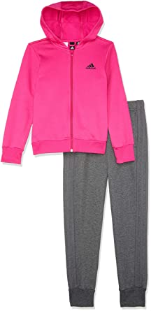 adidas Young Hooded Cotton Chándal, Infantil, Top:Dark Real ...