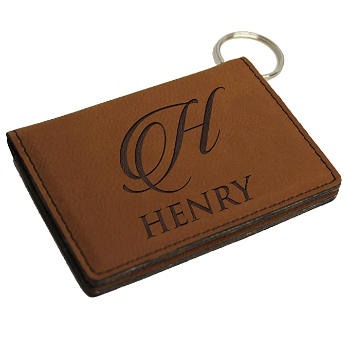 e8ce18b96f59 Custom ID Card Holder Key Chain - Personalized Wallet Keychain at ...