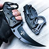 Snake Eye Tactical Everyday Carry Karambit Style Ultra Smooth One Hand Opening Folding Pocket Knife - Ideal for Recreational
