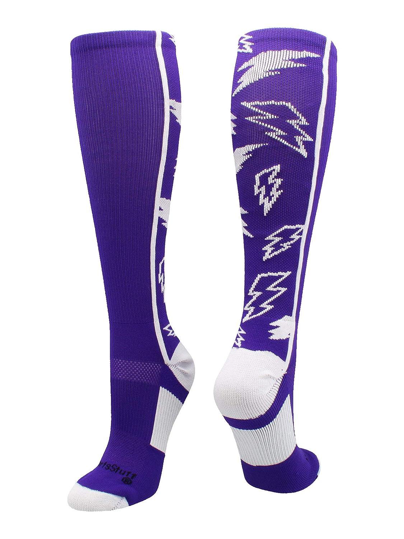 Multiple Colors MadSportsStuff Crazy Socks with Lightning Bolts
