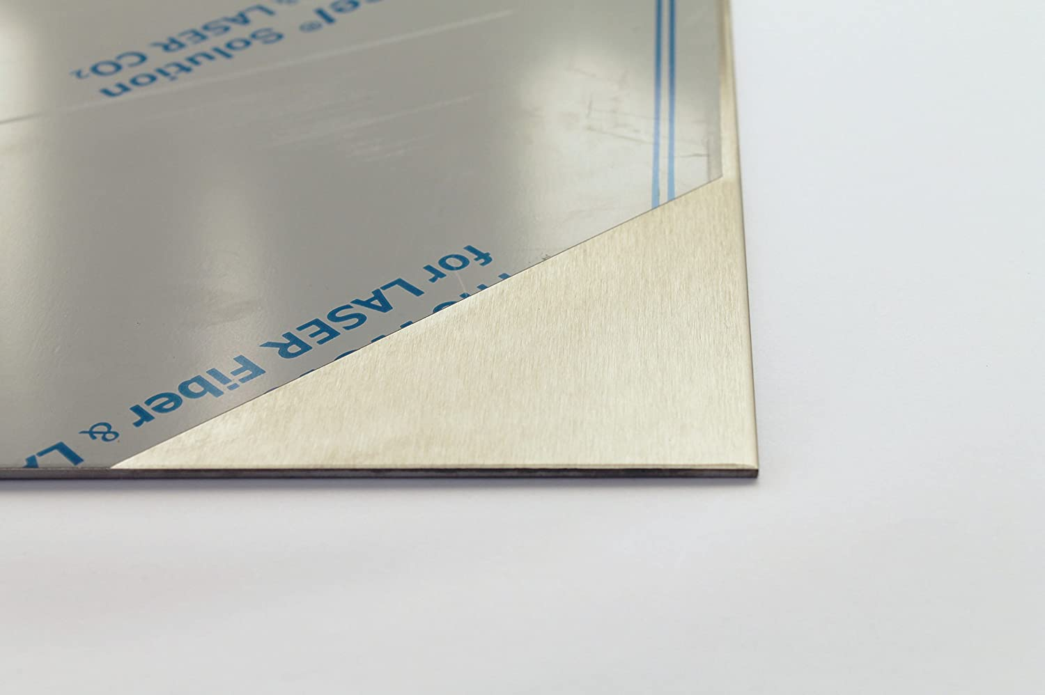 1.5 mm Stainless Steel Sheet Polished on One Side Film 1.4301 K240 1000 600 V2A