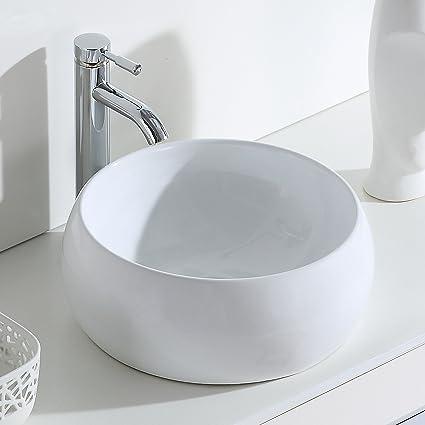 ERIDANUS Serie Luciano -02, Lavabo di Ceramica Bianco Lusso ...
