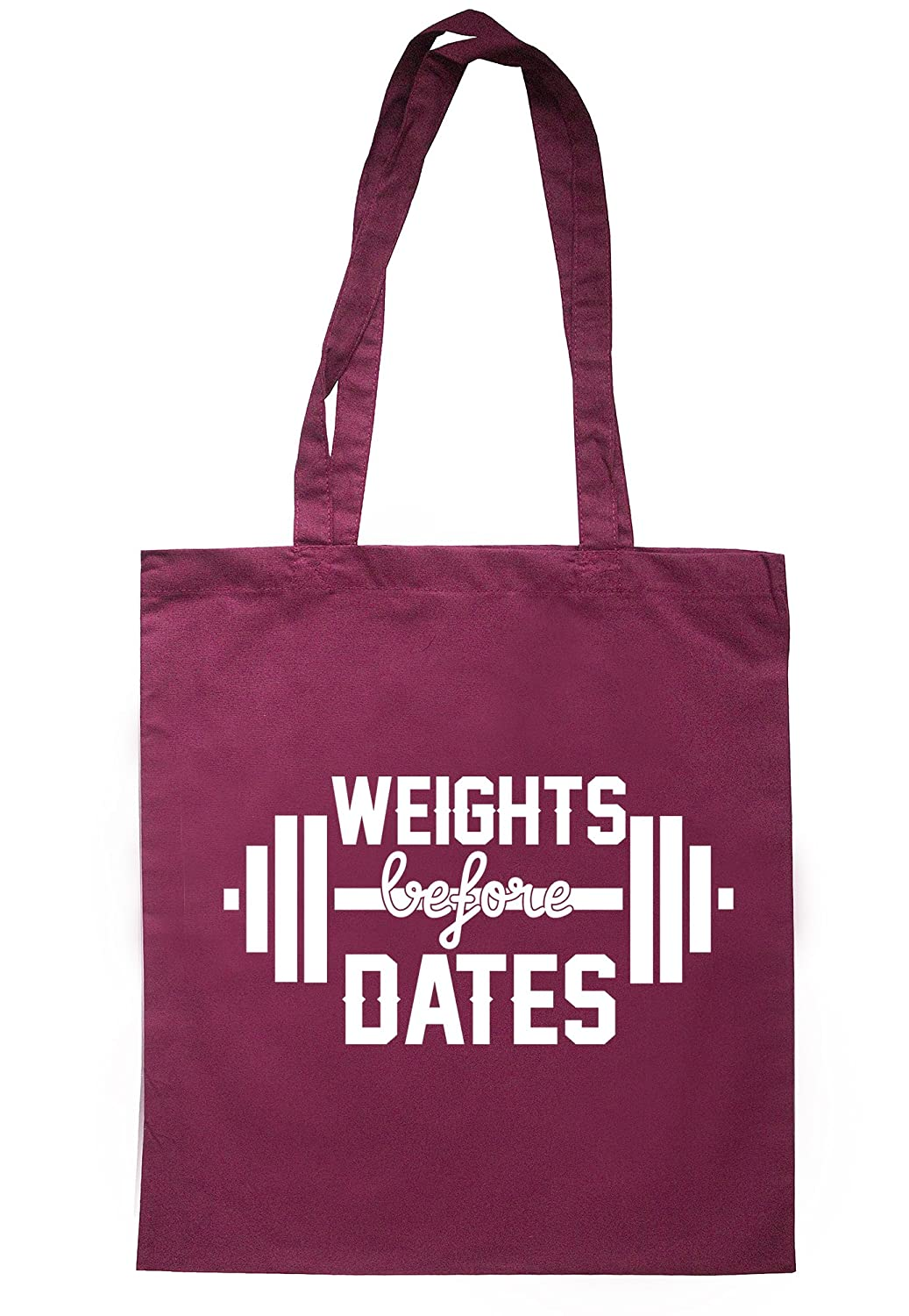 illustratedidentity Weights Before Dates Tote Bag 37.5cm x 42cm with long handles TB1228-TB-NV