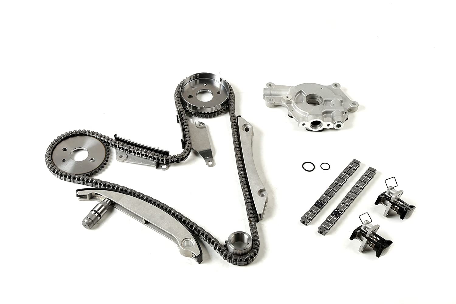MOCA Timing Chain Kit Oil Pump Kit for 2002-2007 Chrysler Concorde Sebring 300 & Dodge Intrepid & Dodge Charger Stratus 2.7L V6 24V DOHC R OELINE Auto Parts
