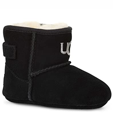 UGG Kids Unisex Jesse (Infant/Toddler) Black (Suede) Boot XS (