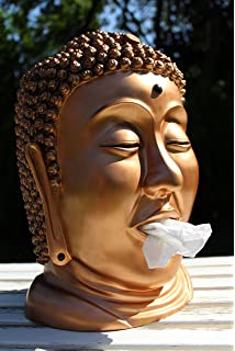 Taschentuch Spender Oder Kosmetiktuch Spender Buddha Kopf Bronze